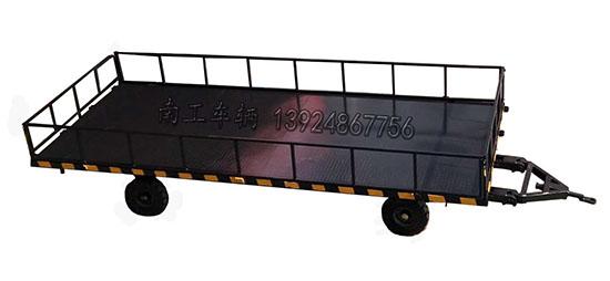 带板簧减震5T平板拖车