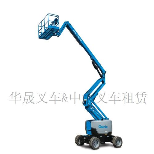 烟台四轮驱动高空检修设备/吉尼自行式剪叉车型高空作业平台维修