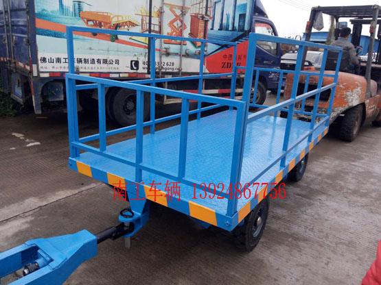3吨高插装式护栏平板拖车