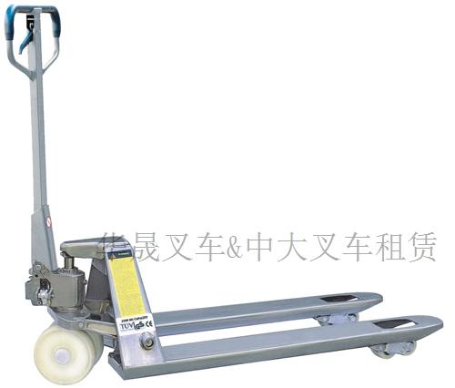 威海焊接泵/整体泵地牛/手动液压搬运车/仓储怪力车现货:华晟叉车