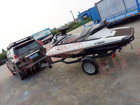 进口小型游艇拖车
