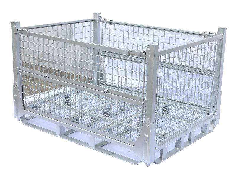 可折叠网托盘  网格式仓储笼