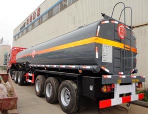 钢衬塑化工液体运输车