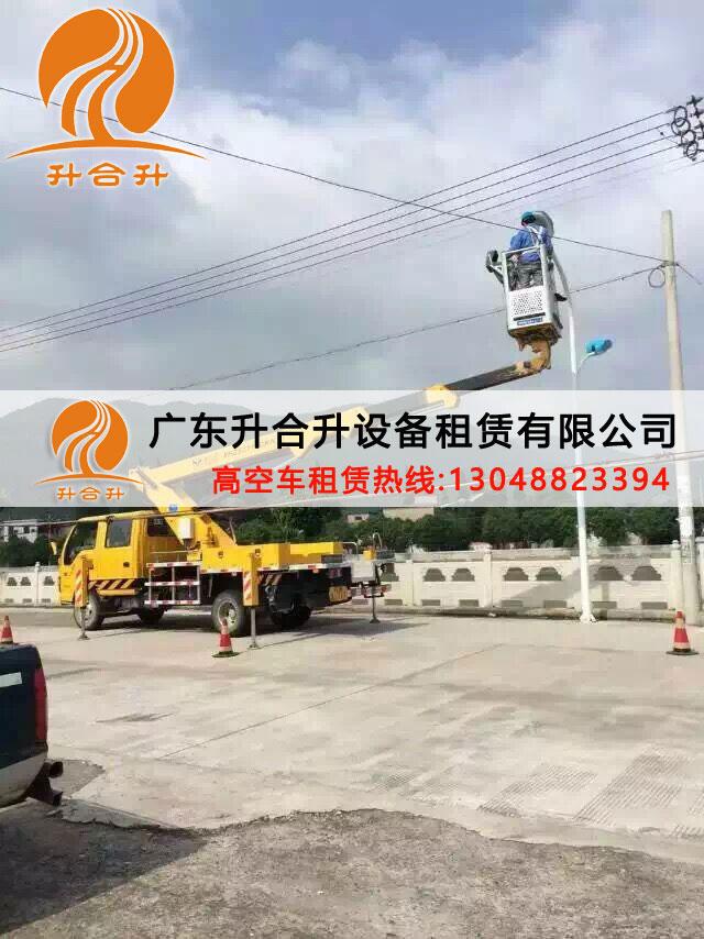 深圳22米折臂式登高车登高作业平台出租现货