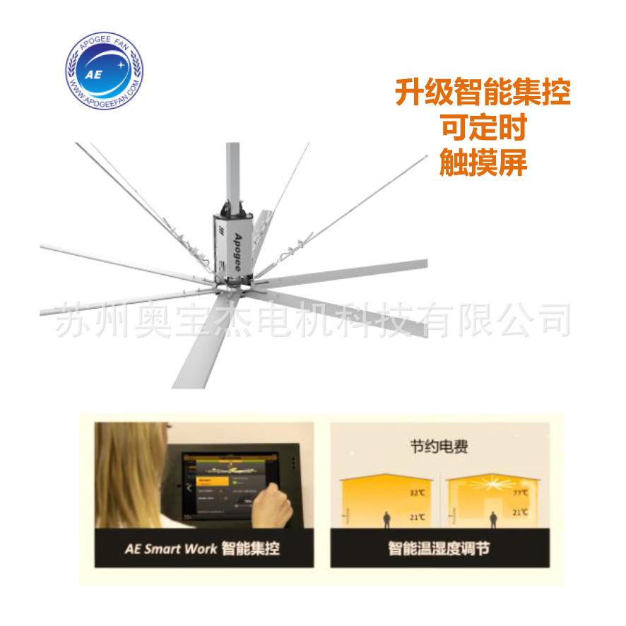 厂家促销 工业大风扇 永磁无刷 节能静音大吊扇 触摸屏集中控制