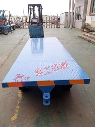 4吨蓝色平板小拖车全挂车
