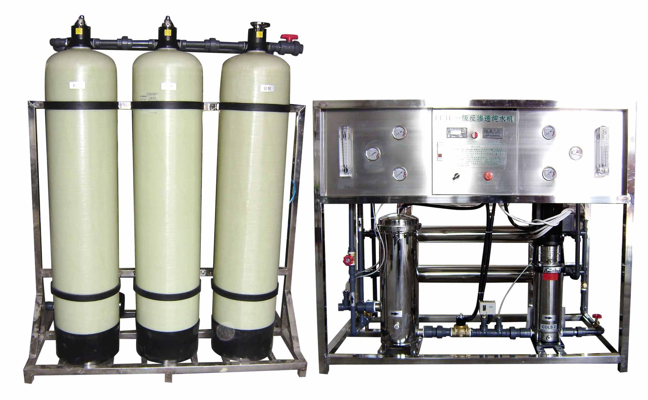 通化反渗透纯水设备双极反渗透玻璃设备水反飞灵熔断器图片