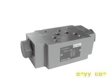 工作油口可无泄漏密封4种开启压力,可选择22s型叠加式结构液控单向阀.图片